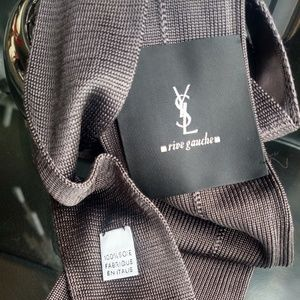 Yves Saint Laurent Accessories - YSL Rive Gauche Silk Grenadine Tie in Mauve